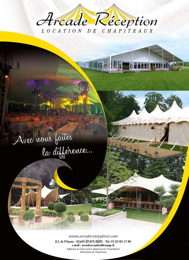 Arcade Réception - Location de tentes et chapiteaux : Avec nous, faites la différence...