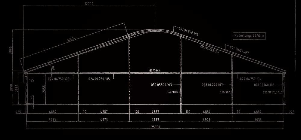 Plan structure cintrée