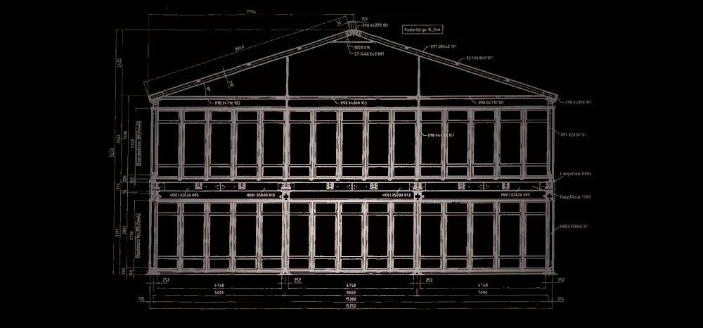 Plan structure à étages