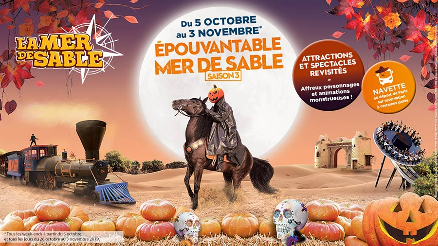 La Mer de Sable, animations pour Halloween