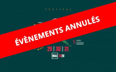 Evènements annulés suite au COVID-19